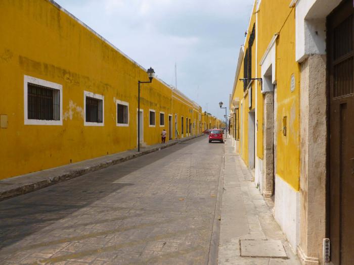 A yellow street.