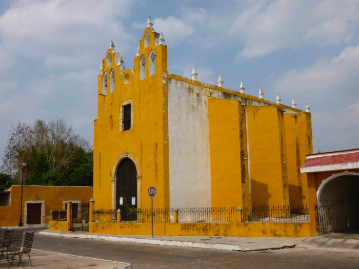 Another beautiful yellow church.