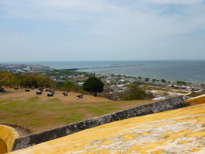 Looking south from the top of the fort toward the center of the city