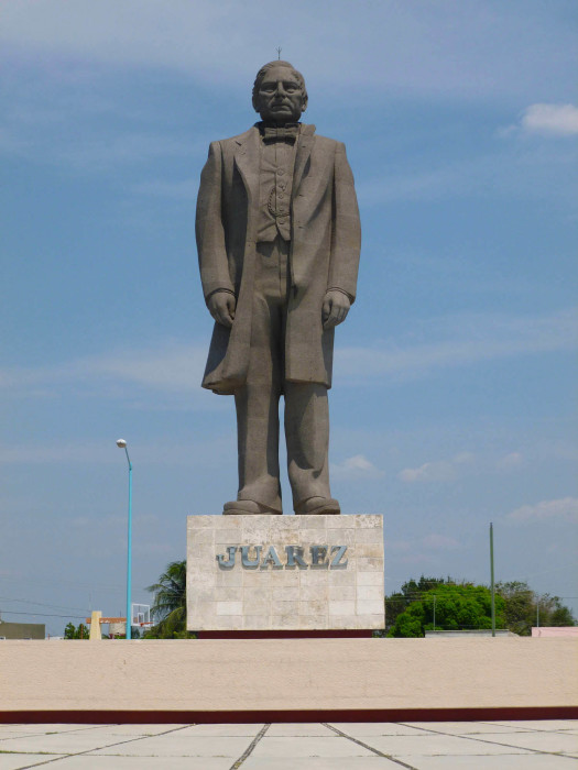 A massive (50'+) statue of Benito Juarez, who is sort of like the Mexican equivalent of George Washington