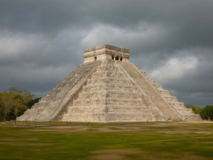 El Castillo, the site's main pyramid and attraction. It's about 100 feet tall.