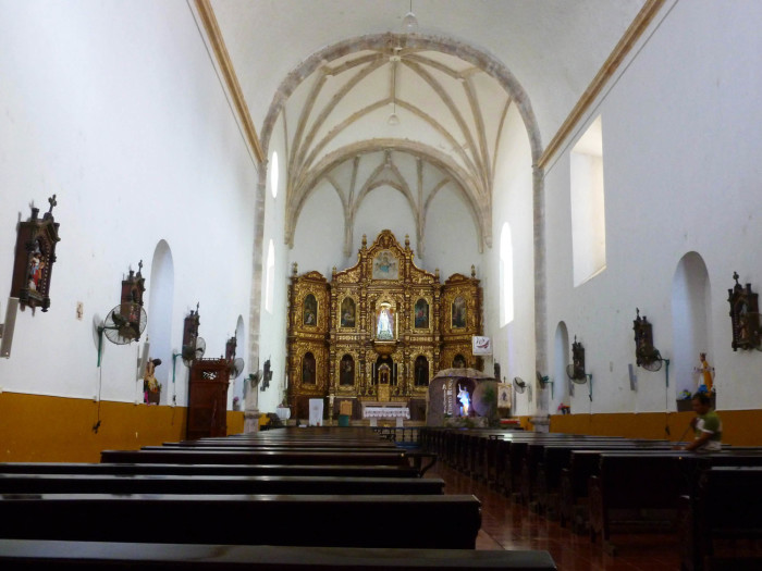 The inside of the church.
