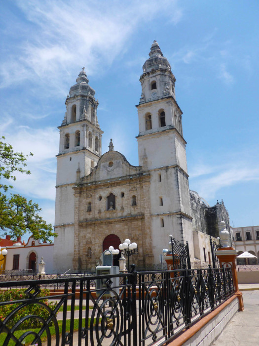 The church on the main plaza. The building dates from the 17th century.