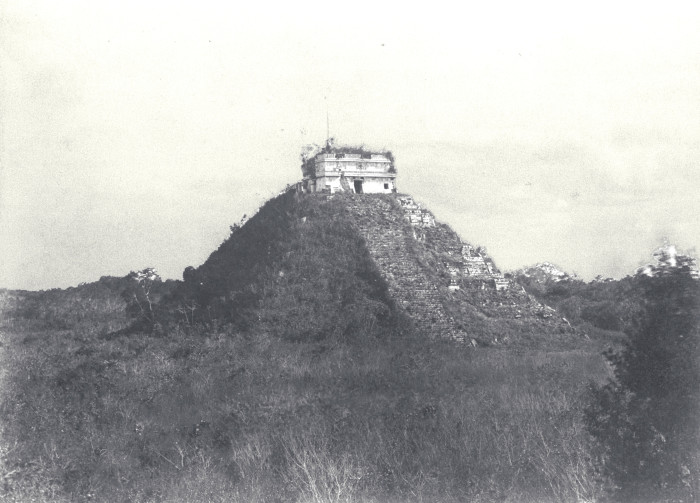El Castillo in 1892, before it was cleaned and restored.