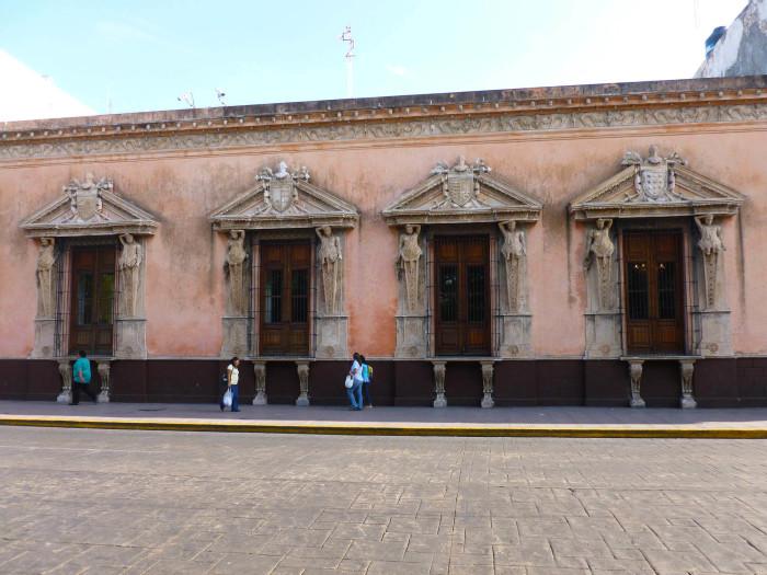 Part of the facade of the Casa de Montejo