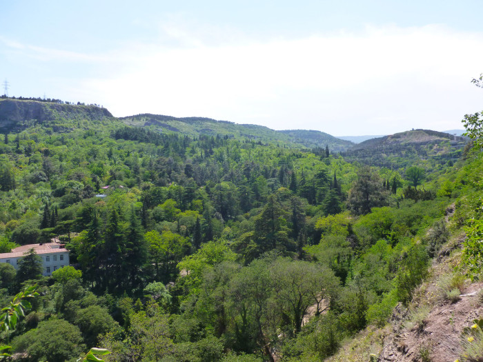 A nice green valley on the other side of Narikala Fortress