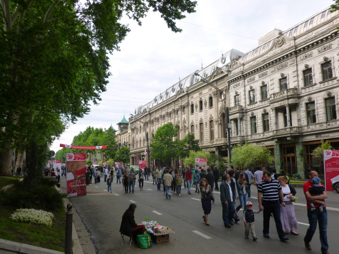 Rustaveli Avenue during the Independence Day parade