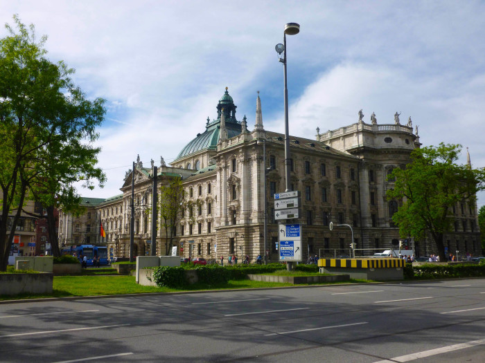 The Jusitzpalast, a courthouse and administrative building