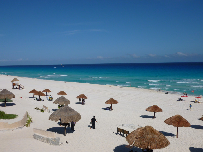 One of Cancun's beaches