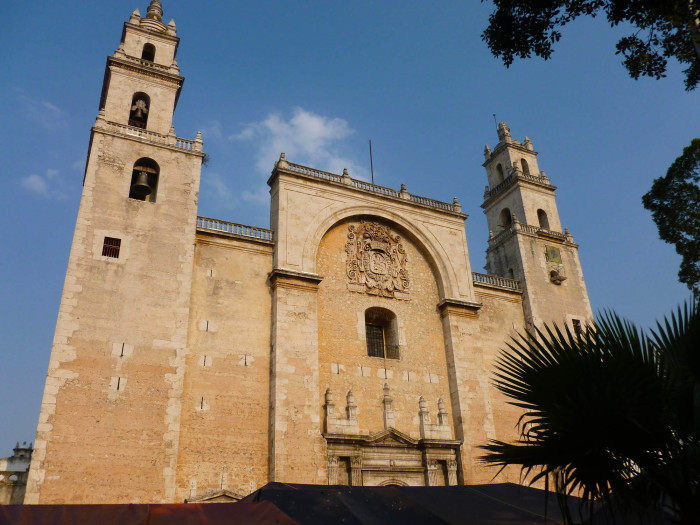 The Cathedral of Merida, one of the oldest cathedrals in the Americas (completed in 1598, so it's 415 years old).