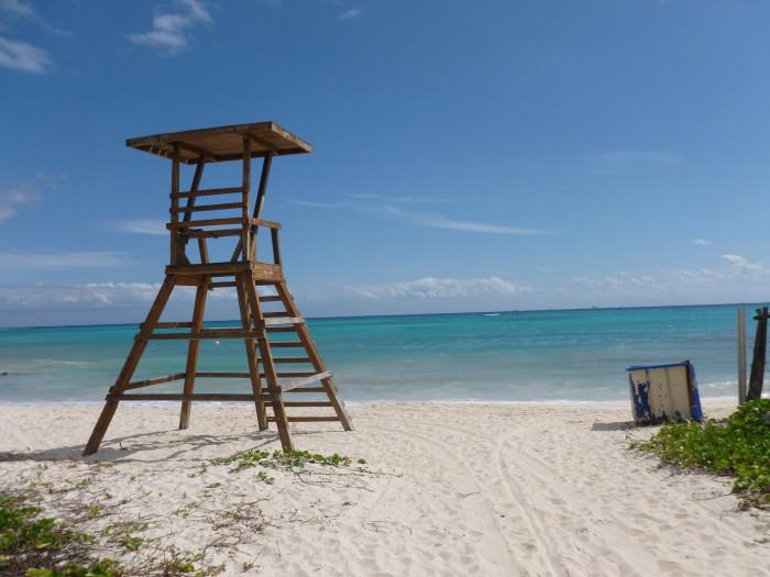 The beach near my apartment in Playa del Carmen