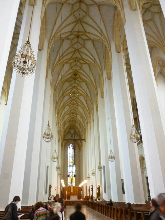 The interior of the Frauenkirche