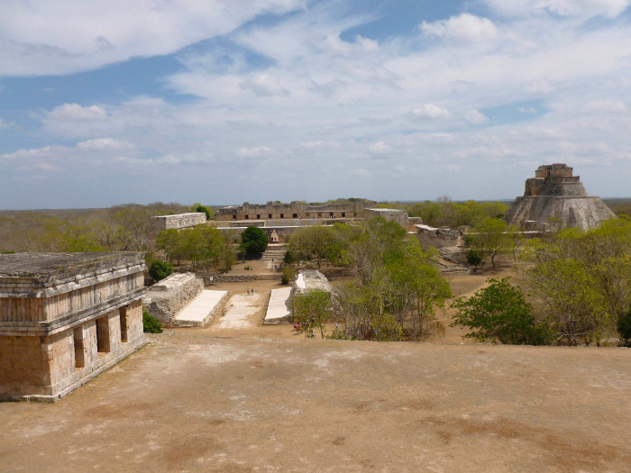 Looking out at Uxmal