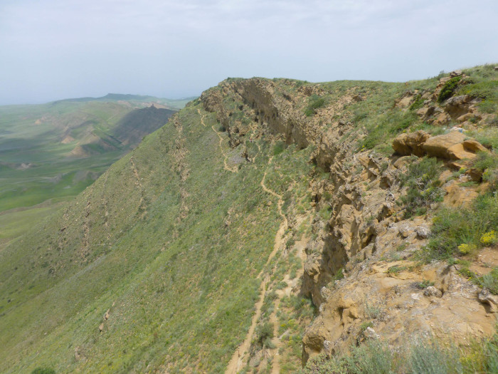 The Udabno caves on the Azeri side of the mountain