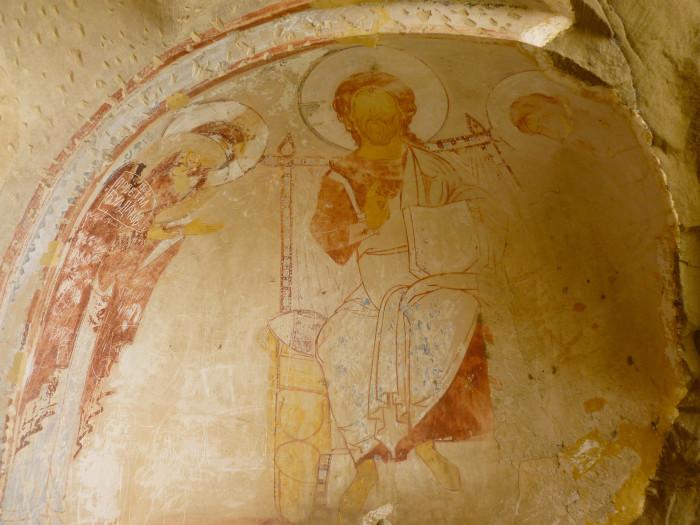 Thousand-year-old frescos at Udabno