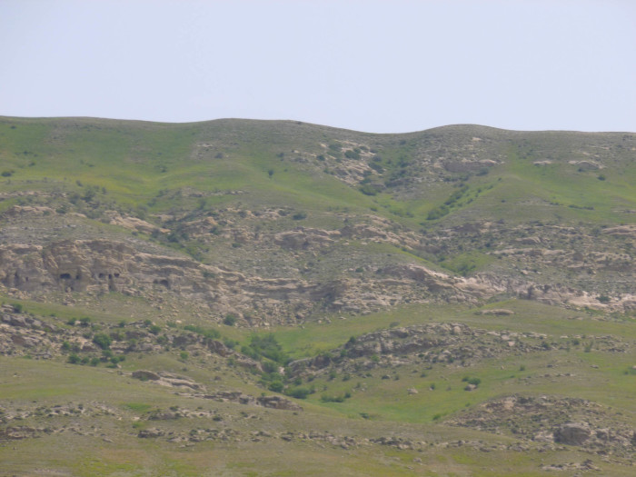 See the caves in the cliff on the left side? Those are some other part of the Davit Gareja complex (i.e., not Lavra or Udabno).