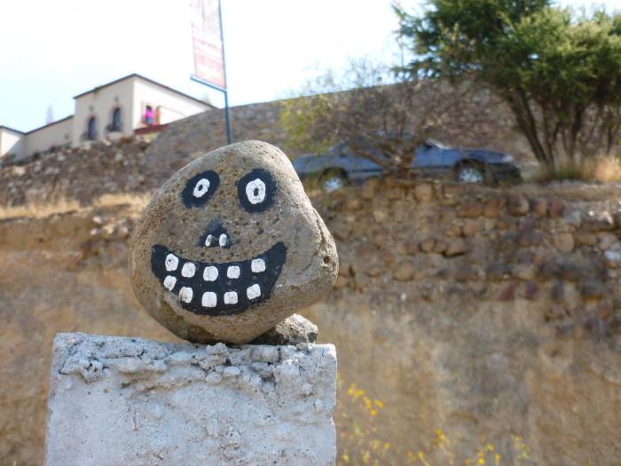 A happy rock