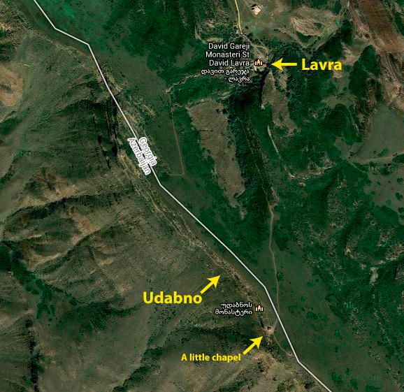 Davit Gareja map