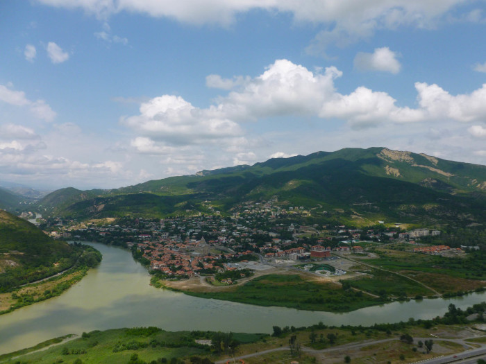 The incredible view of Mtskheta from Jvari Monastery. You can see why people have been living there for a few thousand years.