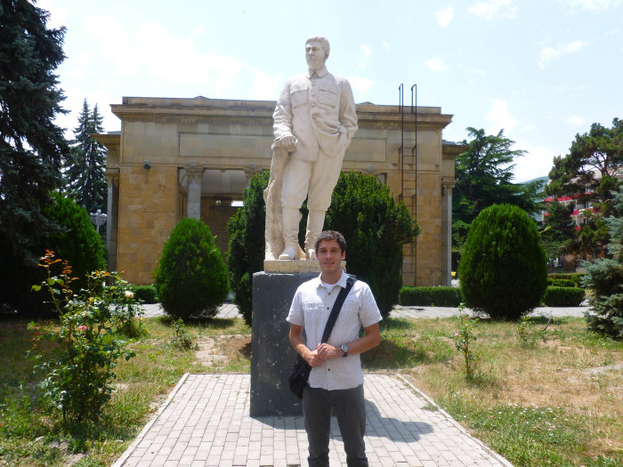 Me with one of the few remaining Stalin statues in Georgia. There are a couple of them still in Gori.