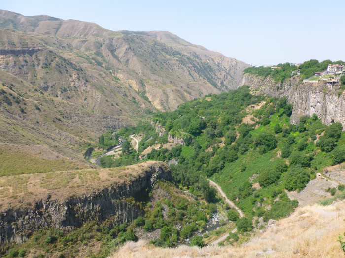 Looking right (west) from Garni Temple into Garni Gorge