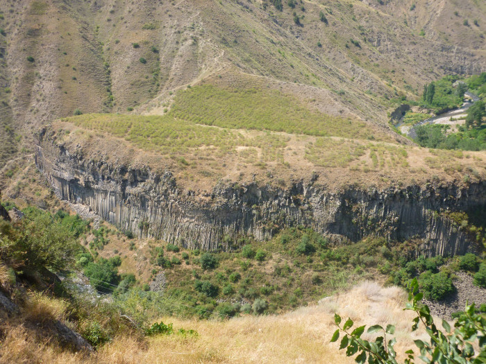 Looking straight south from Garni Temple into Garni Gorge and the Symphony of the Stones.