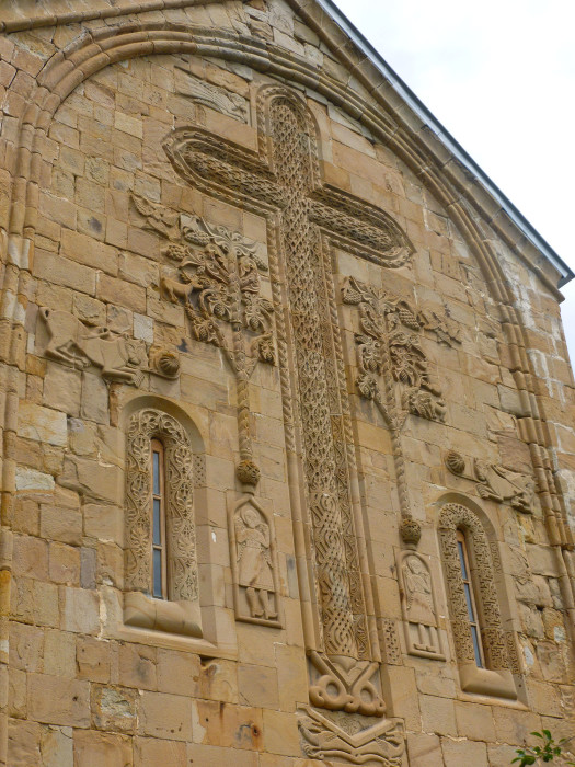 The really intricate carvings on the outside of the newer church