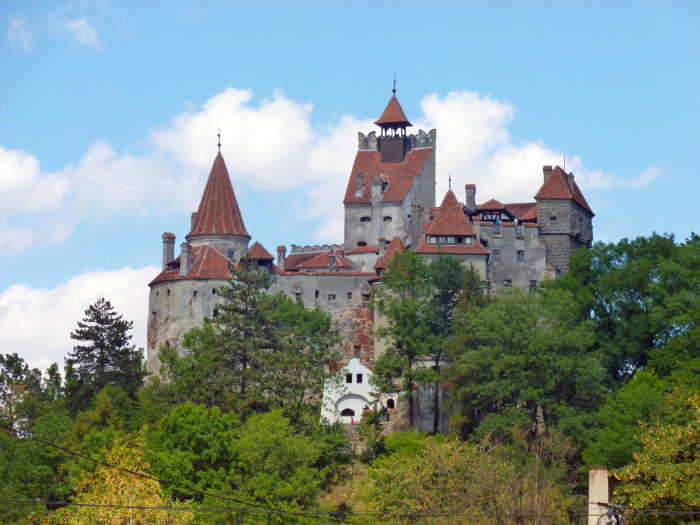 Bran Castle, aka Dracula's Castle. It's one of several castles in Romania very loosely tied to the Dracula story.