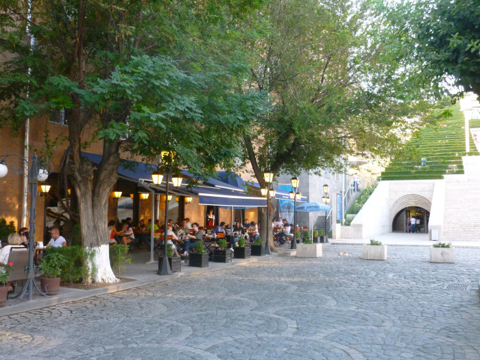 One of Yerevan's many, many cafes.