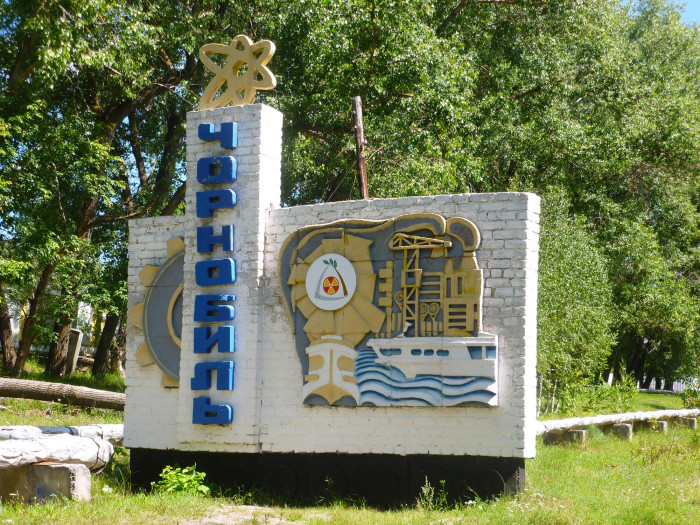 The sign for Chernobyl.