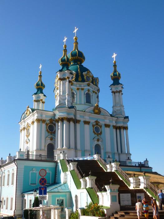 St. Andrew's Church, my favorite church in Kiev