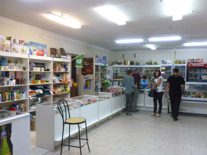 The little shop in Chernobyl that serves the military men, scientists, engineers, and others that live there.
