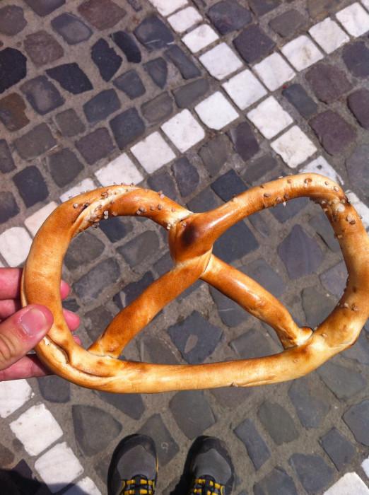 A fresh pretzel