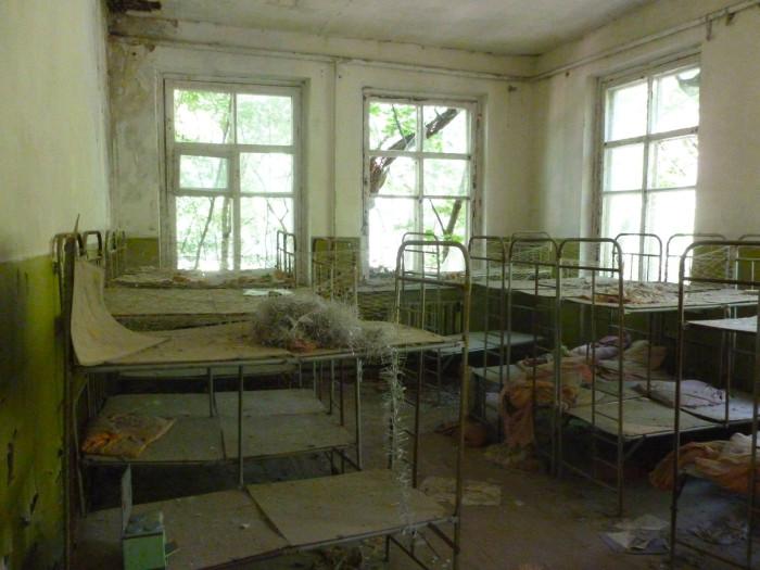Bunk beds in the kindergarten
