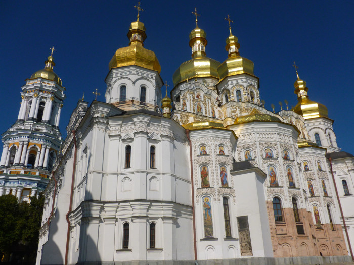 The Bell Tower and Dormition Cathedral in the Pechersk Lavra