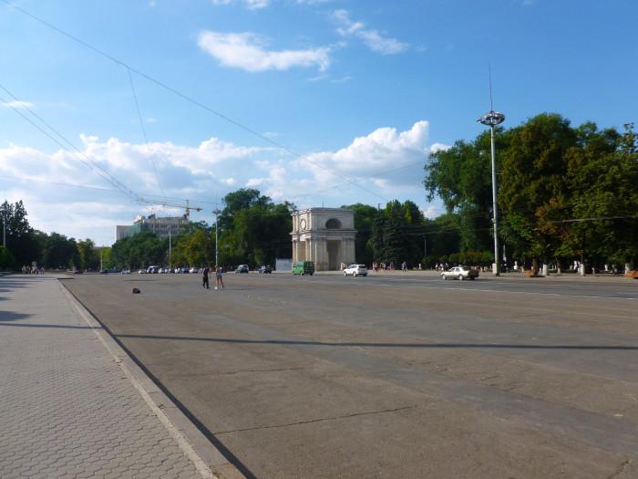 A square in Chisinau