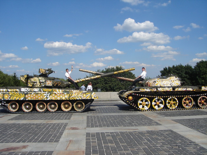 Here I am at the peace tanks in the summer of 2006.