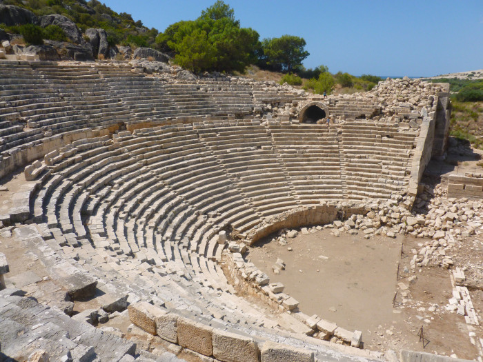 The Roman amphitheater at Patara