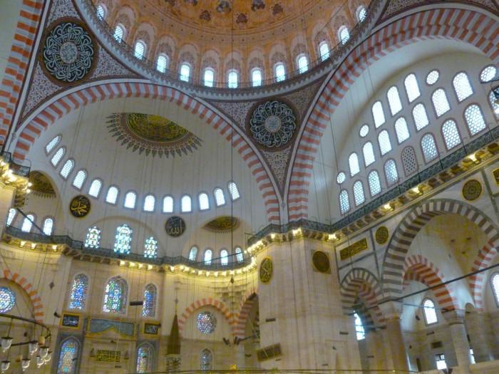 Inside Suleymaniye Mosque