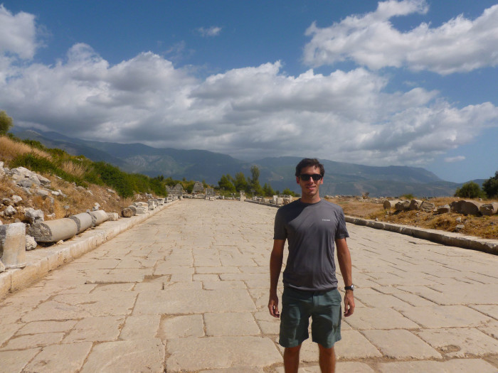 A rigid me on the stunning Roman road of Xanthos. It looks pretty darn good for being a couple thousand years old.