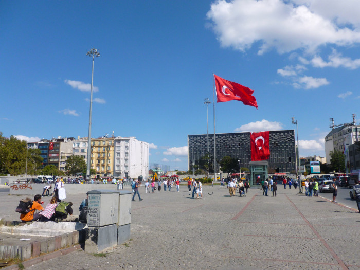 Taksim Square, home to the protests and brutal police suppression of a couple months ago