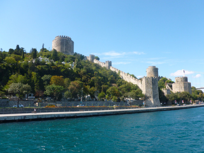 Rumeli Fortress on the Bosphorus, as seen from a Bosphorus cruise