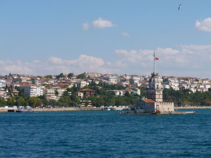 Maiden's Tower sits on a little island in the Bosphorus
