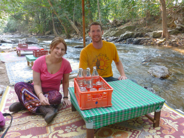Anna and Cory at the lovely little breakfast/lunch spot.