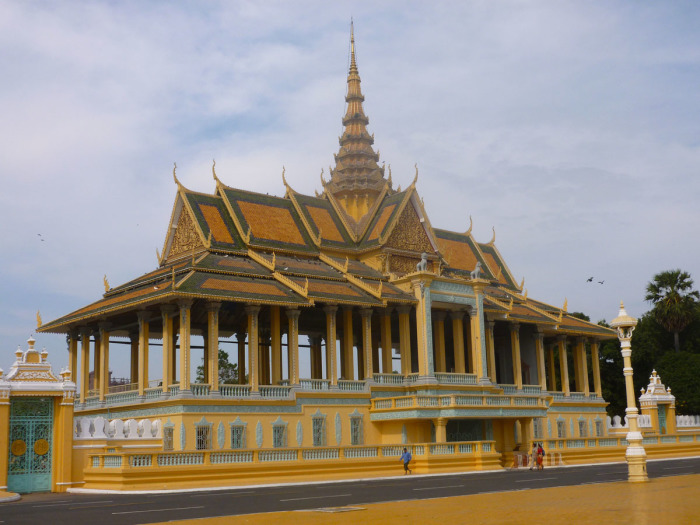Part of the Royal Palace in central Phnom Penh