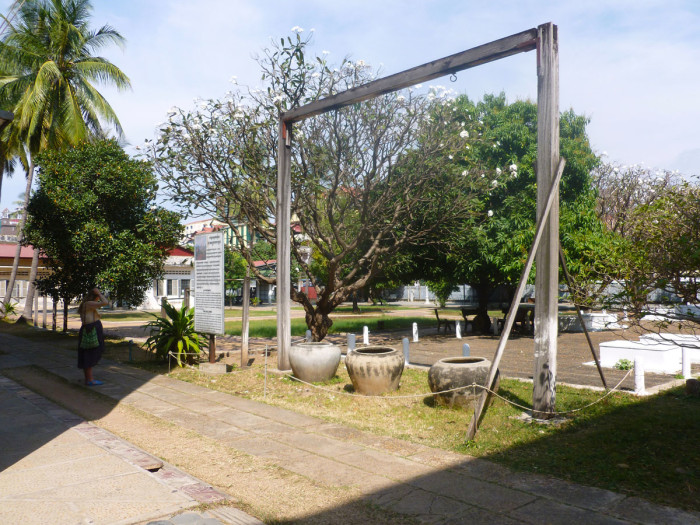Gallows that prisoners were hung from