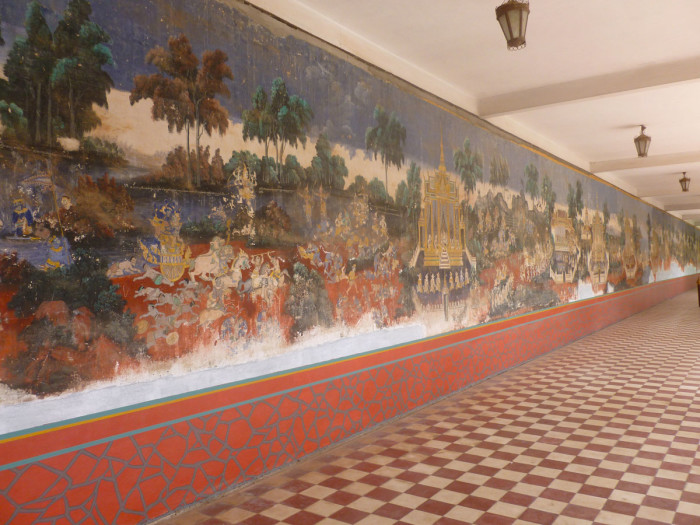 Outdoor murals inside the Royal Palace compound
