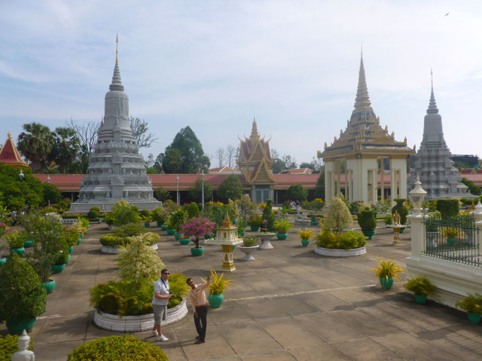 The grounds of the Royal Palace