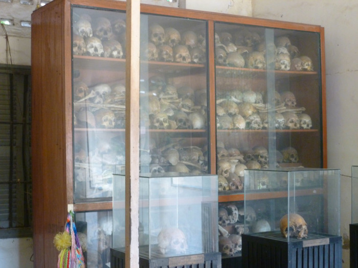Skulls of people killed in the prison