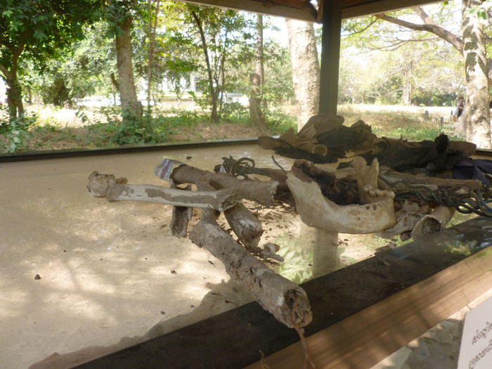 Bone fragments recently found at the killing fields. New pieces still rise to the surface whenever it rains.